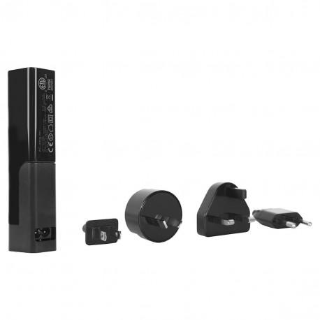 Targus 4-Way USB Fast Charger - Adaptateur secteur - 4.8 A - 4 connecteurs de sortie (USB) - noir - Australie, Royaume-Uni, Eta