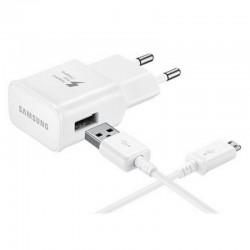 Samsung Travel Adapter EP-TA20 - Adaptateur secteur (USB) - sur le câble : USB-C - blanc - pour Galaxy A3 (2017), A5 (2017), A7
