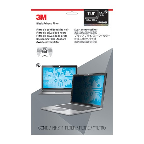 """Filtre de confidentialité 3M for Edge-to-Edge 11.6"""" Full Screen Laptop with COMPLY Attachment System - Filtre de confidentiali"""