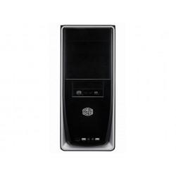 Cooler Master Elite 310 - Tour midi - ATX - pas d'alimentation (ATX / PS/2) - noir, argenté(e) - USB/Audio