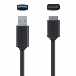 Belkin SuperSpeed USB 3.0 Cable A to Micro-B - Câble USB - USB type A (M) pour Micro-USB Type B (M) - USB 3.0 - 91.4 cm - moulé