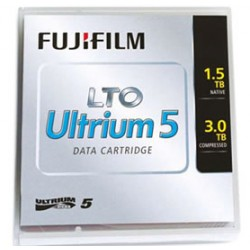 FUJITSU LTO5 data 5 pièces Fuji with label / Pack de 5 cassettes