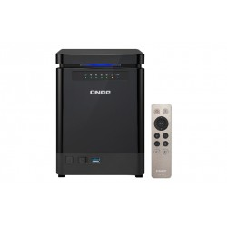 QNAP TS-453Bmini - Serveur NAS - 4 Baies - SATA 6Gb/s - RAID 0, 1, 5, 6, 10, JBOD, disque de réserve 5 - RAM 4 Go - Gigabit Eth