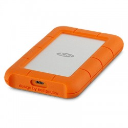 LaCie Rugged USB-C - Disque dur - 4 To - externe (portable) - USB 3.1 Gen 1 (USB-C connecteur) - orange