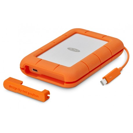 LaCie Rugged Thunderbolt USB-C - Disque dur - 2 To - externe (portable) - USB 3.1 Gen 1 / Thunderbolt 3 (USB-C connecteur)