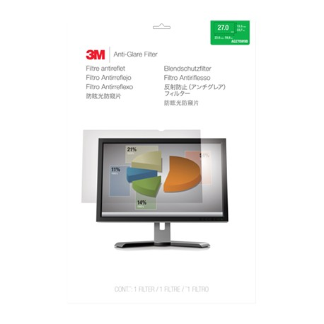 "Filtre anti-reflets 3M pour moniteur panoramique 27"" - Filtre anti-reflet pour écran - Largeur 27 po. - clair"