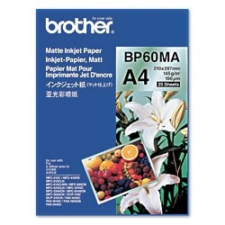 Brother BP 60MA Matte Inkjet Paper - Mat - A4 (210 x 297 mm) - 145 g/m² - 25 feuille(s) papier - pour Brother DCP-J582, J982, J