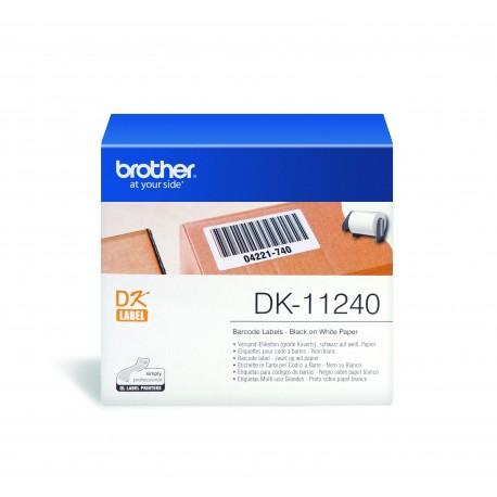 Brother DK-11240 - Noir sur blanc - 51 x 102 mm 600 étiquette(s) étiquettes d'expédition - pour Brother QL-1050, QL-1050N, QL-