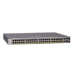 NETGEAR ProSAFE S3300-52X - Commutateur - intelligent - 48 x 10/100/1000 + 2 x 10Gb Ethernet + 2 x Ethernet 10 Go SFP+ - Montab
