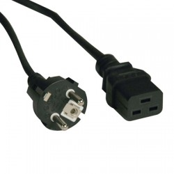 Cable d'alimenetation, 10A IEC-320-C19 vers SCHUKO CEE 7/7) 2.5m