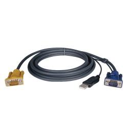 Tripp Lite 6ft USB Cable Kit for KVM Switch 2-in-1 B020 / B022 Series KVMs 6' - Câble vidéo / USB - USB, HD-15 (M) pour HD-15