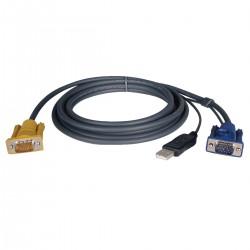 Tripp Lite 19ft USB Cable Kit for KVM Switch 2-in-1 B020 / B022 Series KVMs 19' - Câble vidéo / USB - USB, HD-15 (VGA) (M) pou