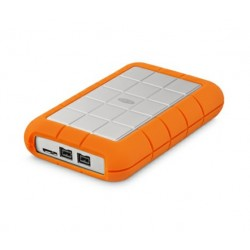 LaCie Rugged Triple STEU1000400 - Disque dur - 1 To - externe (portable) - FireWire 800 / USB 3.0 - 5400 tours/min - AES 256 bi