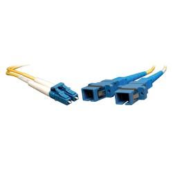 Tripp Lite 0.3M Duplex Multimode Fiber Optic 8.3/125 Adapter LC/SC M/F 1ft 1' 0.3 Meter - Adaptateur réseau - mode unique LC (