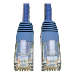 Tripp Lite Cat6 Gigabit Molded Patch Cable RJ45 M/M 550MHz 24 AWG Blue 10' - Cordon de raccordement - RJ-45 (M) pour RJ-45 (M)
