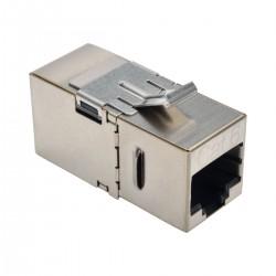 Tripp Lite Cat6 Straight Through Modular Shielded In Line Coupler RJ45 F/F - Prise modulaire - RJ-45 - argenté(e)