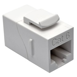 Tripp Lite Straight-Through Modular In-Line Snap-In Coupler - Coupleur réseau - RJ-45 (F) pour RJ-45 (F) - CAT 6 - blanc - Conf