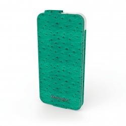 Kensington Portofolio Flip Wallet - Étui pour téléphone portable - autruche sarcelle - pour Apple iPhone 5