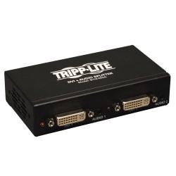 Tripp Lite 2-Port DVI Single Link Video / Audio Splitter / Booster DVIF/2xF TAA - Répartiteur vidéo/audio - 2 x DVI / audio - O