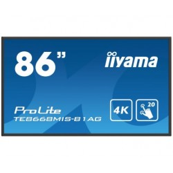 "Iiyama ProLite TE8668MIS-B1AG - Classe 86"" (85.6"" visualisable) écran DEL - communication interactive - avec écran tactile (m"
