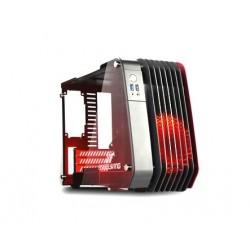Enermax STEELWING ECB2010R - Mini-tour - micro ATX - pas d'alimentation (SFX12V) - rouge - USB/Audio