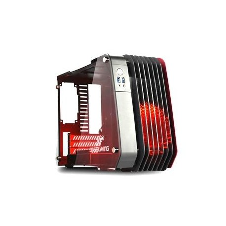 Enermax STEELWING ECB2010R - Mini-tour - micro ATX - pas d'alimentation (SFX12V) - rouge - USB/Audio