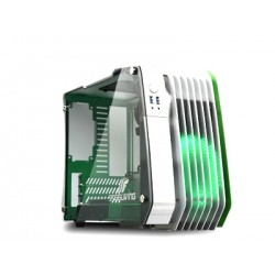 Enermax STEELWING ECB2010G - Mini-tour - micro ATX - pas d'alimentation (SFX12V) - vert - USB/Audio