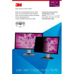 """3M High Clarity Privacy Filter for 23.8"""" Widescreen Monitor - Filtre anti-indiscrétion - 23,8 pouces de large - noir"""