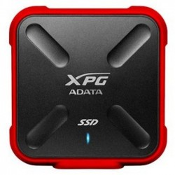 ADATA ASD700X - Disque SSD - 512 Go - externe (portable) - USB 3.1 Gen 1 - rouge