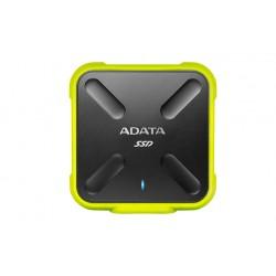 ADATA Durable SD700 - Disque SSD - 256 Go - externe (portable) - USB 3.1 Gen 1 - jaune