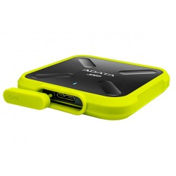 ADATA Durable SD700 - Disque SSD - 1 To - externe (portable) - USB 3.1 Gen 1 - jaune