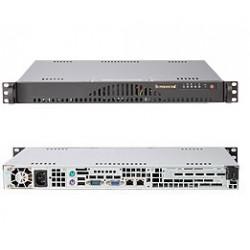 Supermicro SC512 L-200B - Rack-montable - 1U - ATX 200 Watt - noir - USB
