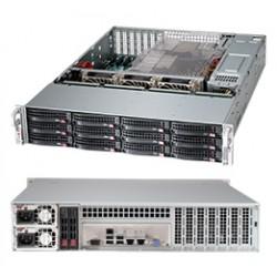 Supermicro SC826 BE16-R920LPB - Rack-montable - 2U - SATA/SAS - hot-swap 920 Watt - noir