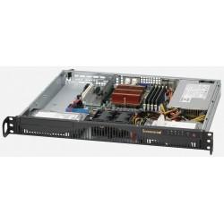 Supermicro SC512 F-350B - Rack-montable - 1U - ATX 350 Watt - noir