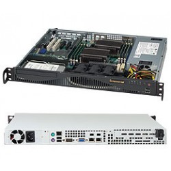 Supermicro SC512 F-600B - Rack-montable - 1U - ATX 600 Watt - noir - USB