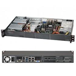 Supermicro SC504 203B - Rack-montable - 1U - mini ITX - non remplaçable à chaud 200 Watt - noir