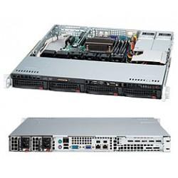 Supermicro SC813M TQ-R400CB - Rack-montable - 1U - ATX - SATA/SAS - hot-swap 400 Watt - noir - USB/série