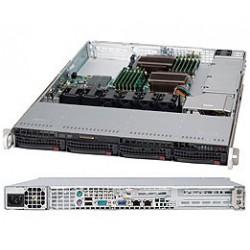 Supermicro SC815 TQ-600WB - Rack-montable - 1U - ATX étendu - SATA/SAS - hot-swap 600 Watt - noir