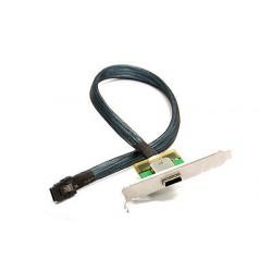 Supermicro CBL-0167L-LP - Câble SAS interne vers externe - 4 SAS mini multivoies blindés 26 broches (SFF-8088) (F) pour 4i Mini