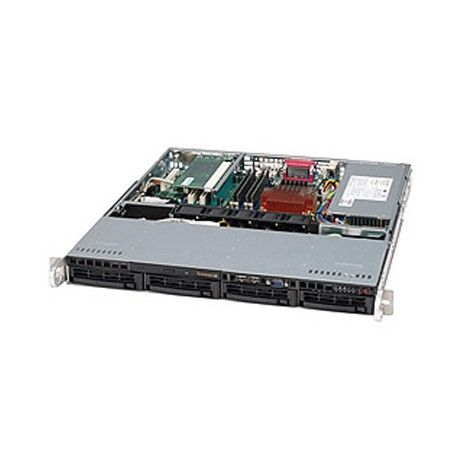 Supermicro SC813M TQ-350CB - Rack-montable - 1U - ATX - SATA/SAS - hot-swap 350 Watt - noir - USB/série