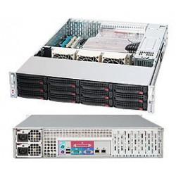 Supermicro SC826 TQ-R500LPB - Rack-montable - 2U - ATX étendu - SATA/SAS - hot-swap 500 Watt - noir