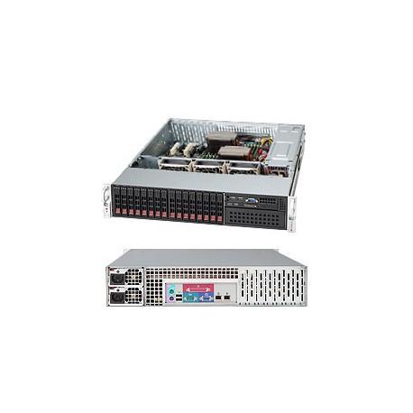 Supermicro SC213 A-R740LPB - Rack-montable - 2U - ATX étendu - SATA/SAS - hot-swap 740 Watt - noir