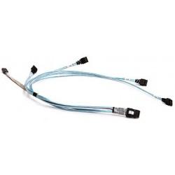 Supermicro CBL-0188L - Câble SATA / SAS - 4 voies - SATA (F) pour 4i Mini MultiLane 36 broches (M) - 64 cm - pour A+ Server AS1