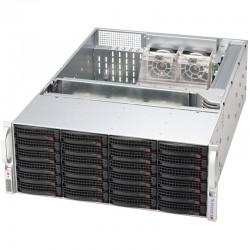 Supermicro SC846 BE2C-R1K28B - Rack-montable - 4U - Extended ATX améliorée - SATA/SAS - hot-swap 1280 Watt - noir