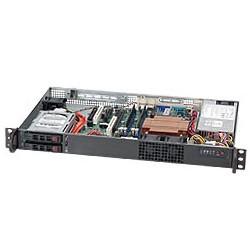 Supermicro SC510 T-200B - Rack-montable - 1U - micro ATX - SATA/SAS - hot-swap 200 Watt - noir