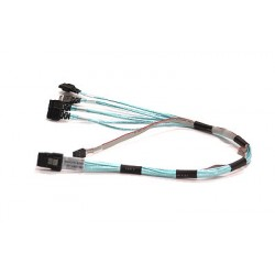 Supermicro - Câble SATA / SAS - avec bandes latérales - crossover - 4i Mini MultiLane 36 broches (M) pour SATA (F) - 70 cm - po