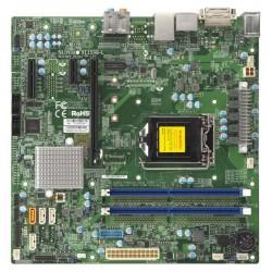 SUPERMICRO X11SSQ-L - Carte-mère - micro ATX - Socket LGA1151 - H110 - USB 3.0 - Gigabit LAN - carte graphique embarquée (unité