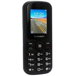 Thomson T Link 18 - Téléphone mobile - double SIM - microSD slot - GSM - 128 x 160 pixels - 0,3 MP - noir