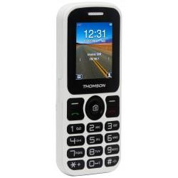 Thomson T Link 18 - Téléphone mobile - double SIM - microSD slot - GSM - 128 x 160 pixels - 0,3 MP - blanc
