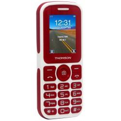 Thomson T Link 18 - Téléphone mobile - double SIM - microSD slot - GSM - 128 x 160 pixels - TFT - 0,3 MP - rouge